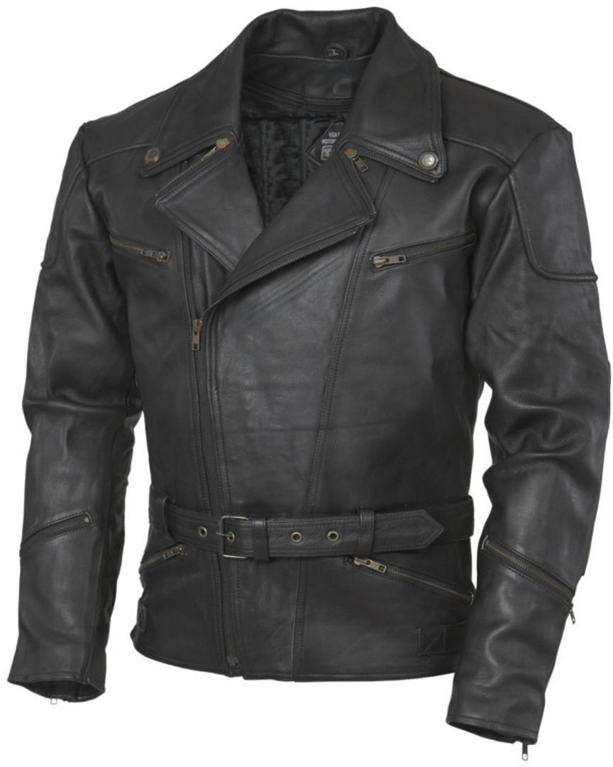 GMS Classic Motorrad Lederjacke, schwarz, Größe S, schwarz, Größe S