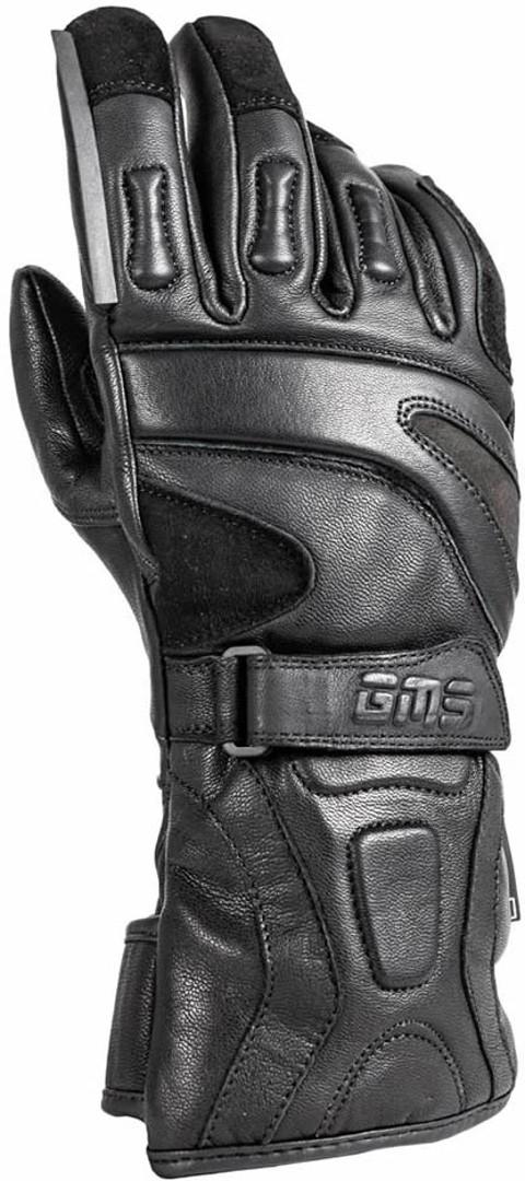 GMS Guard WP wasserdichte Motorradhandschuhe, schwarz, Größe M, schwarz, Größe M