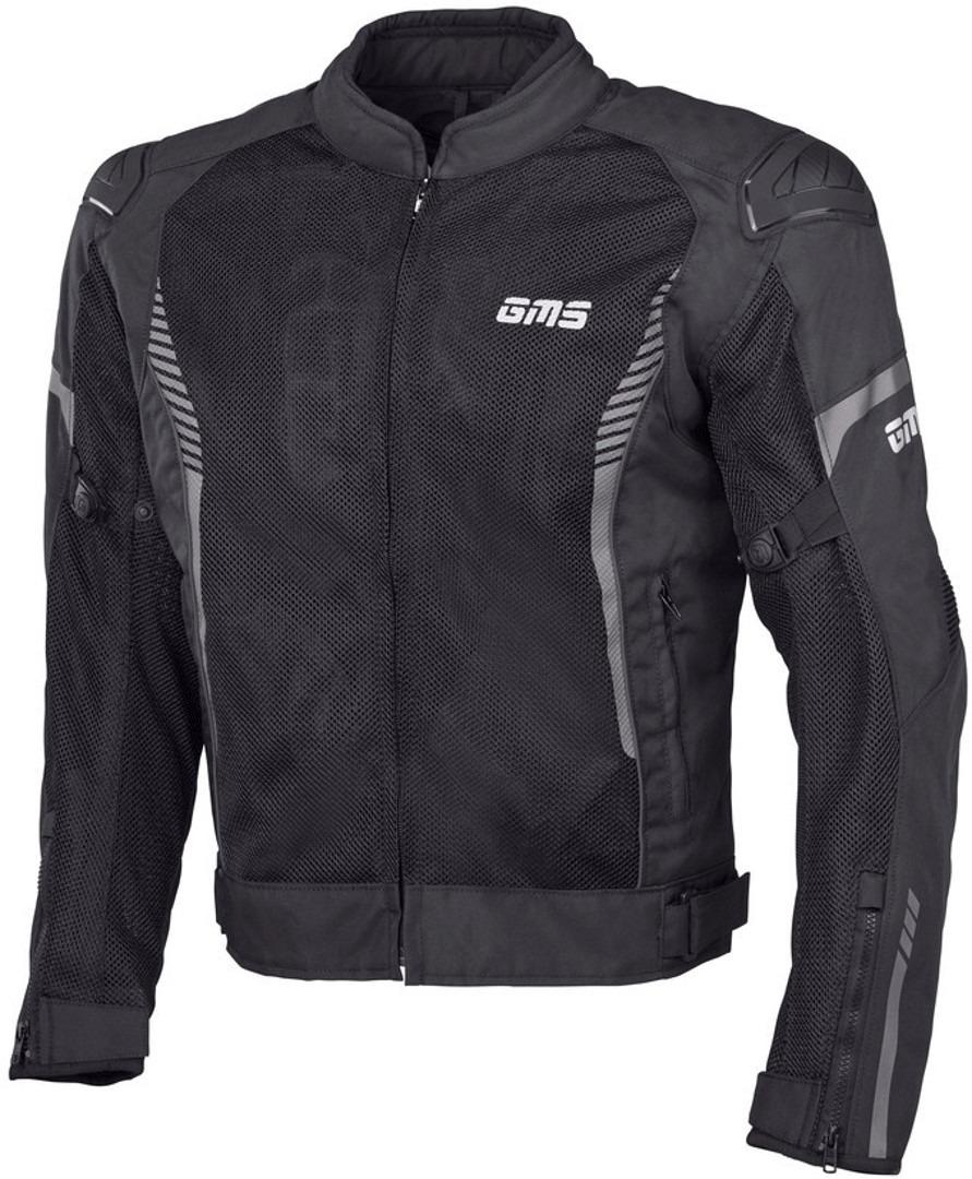 GMS Samu Mesh Motorrad Textiljacke, schwarz, Größe 3XL, schwarz, Größe 3XL