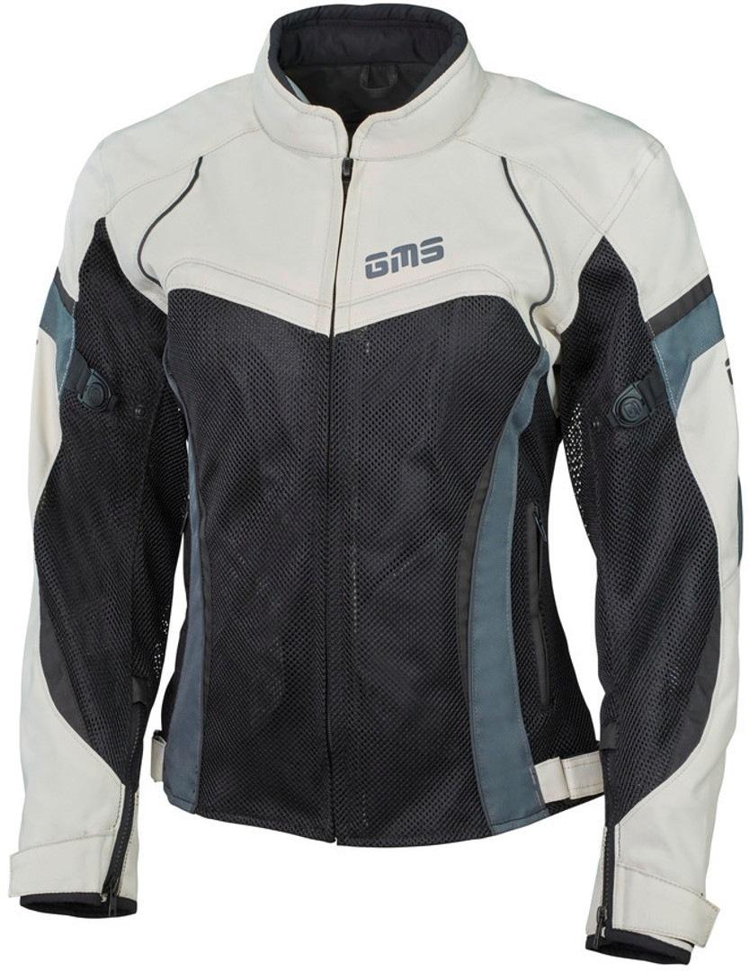 GMS Tara Mesh Damen Motorrad Textiljacke, schwarz-beige, Größe XS, schwarz-beige, Größe XS