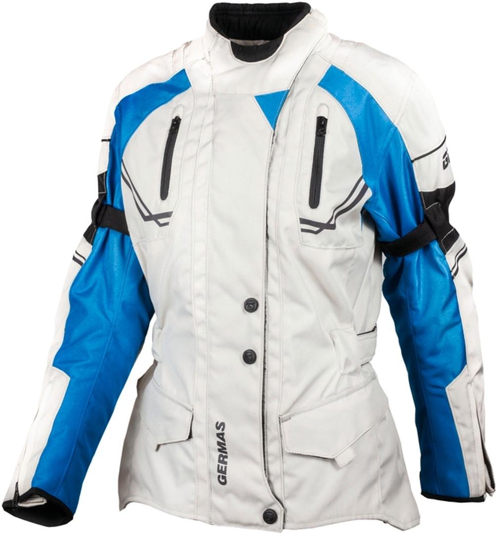 GMS Taylor Damen Motorrad Textiljacke, grau-blau, Größe L, grau-blau, Größe L