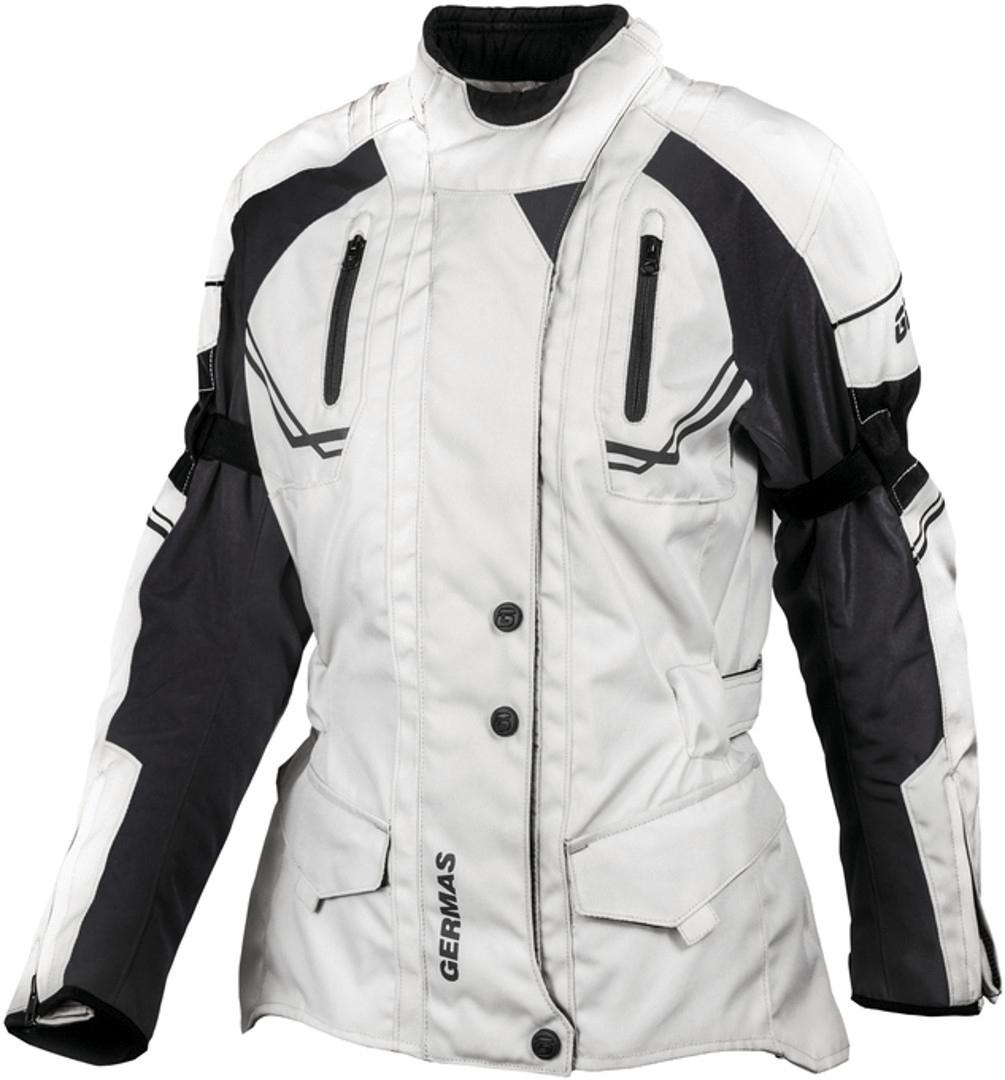 GMS Taylor Damen Motorrad Textiljacke, schwarz-grau, Größe XS, schwarz-grau, Größe XS