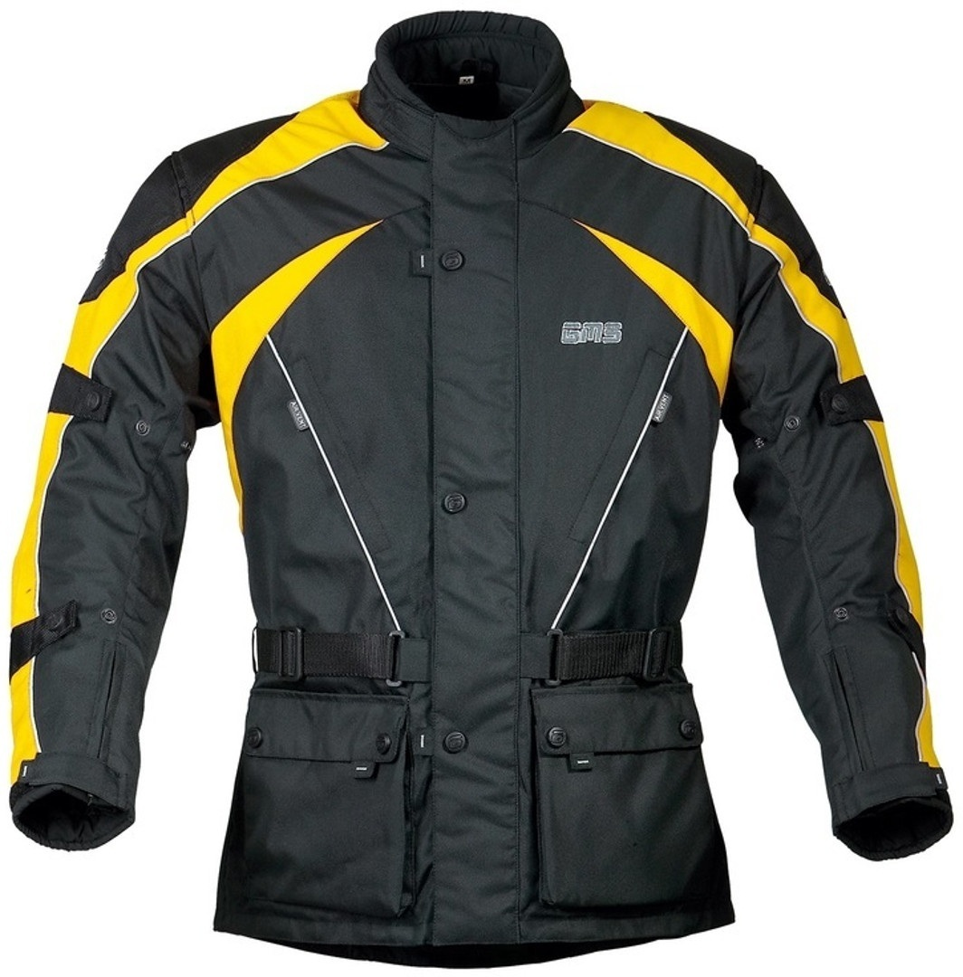 GMS Twister Motorrad Textiljacke, schwarz-gelb, Größe 2XL, schwarz-gelb, Größe 2XL