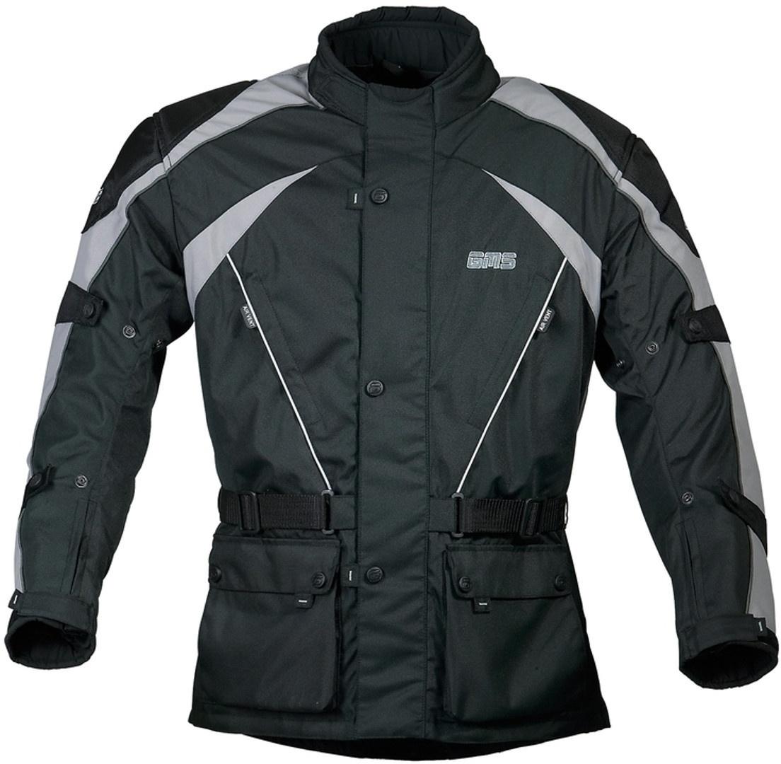 GMS Twister Motorrad Textiljacke, schwarz-grau, Größe 6XL, schwarz-grau, Größe 6XL