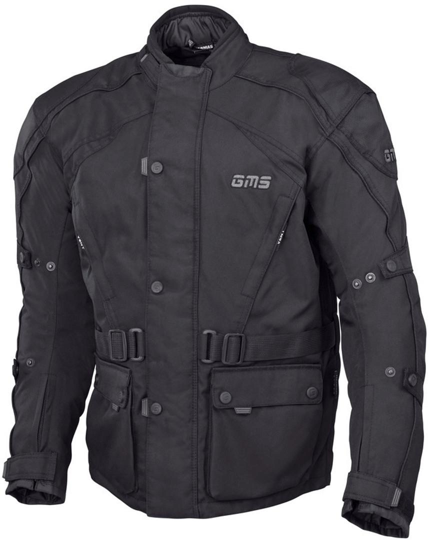 GMS Twister Motorrad Textiljacke, schwarz, Größe 6XL, schwarz, Größe 6XL