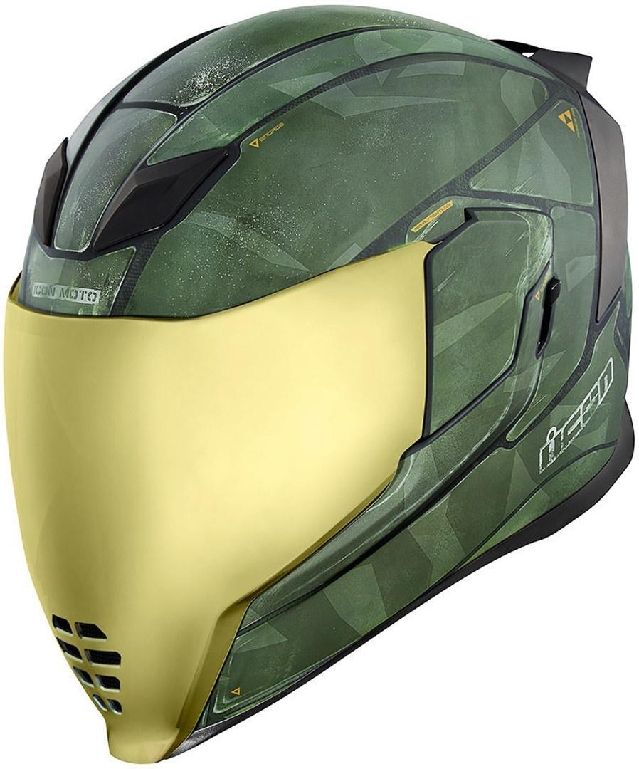 Icon Airflite Battlescar 2 Helm, grün, Größe M, grün, Größe M