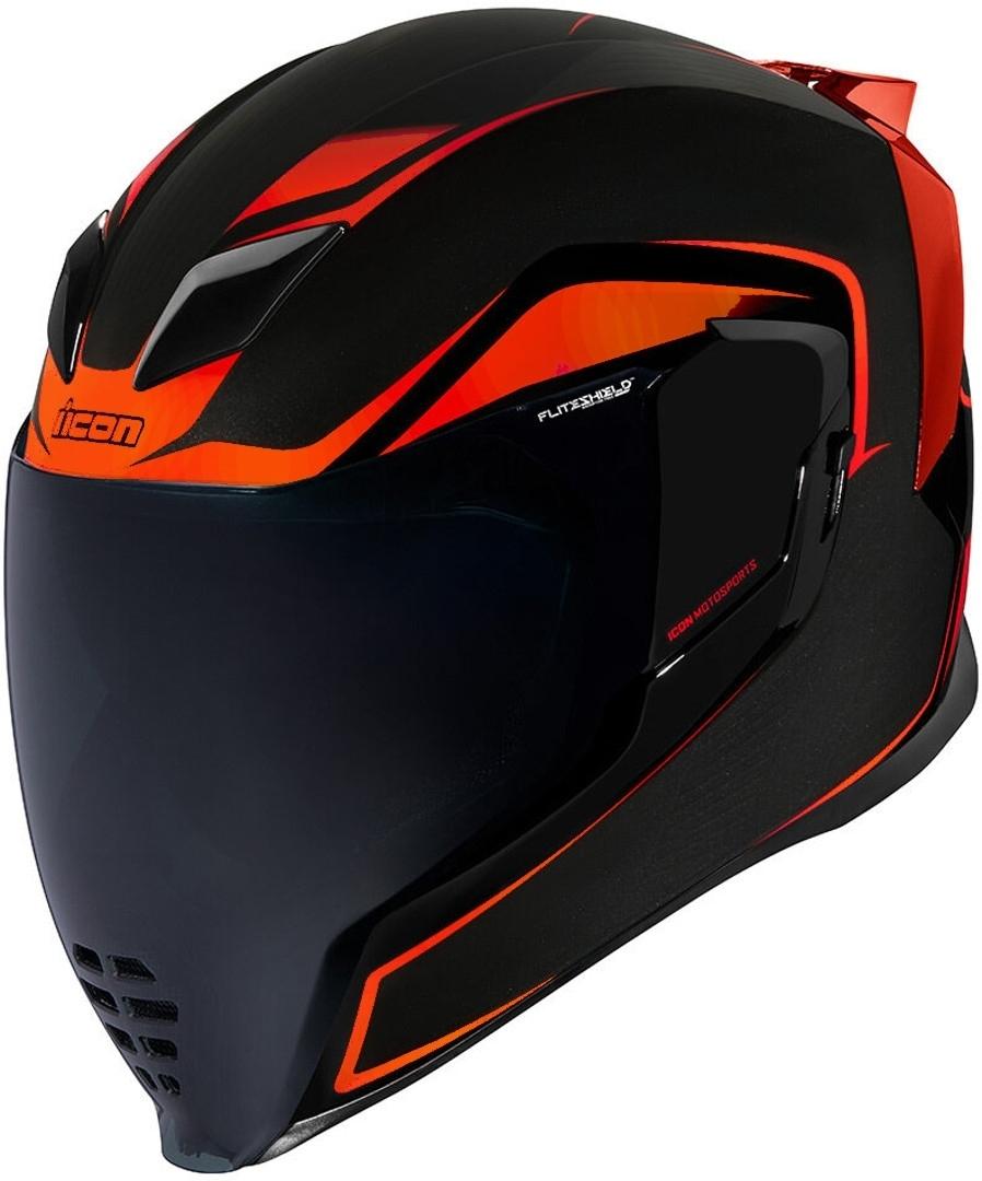 Icon Airflite Crosslink Helm, schwarz-rot, Größe M, schwarz-rot, Größe M