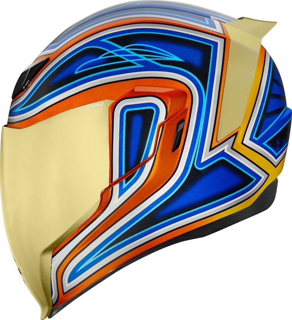 Icon Airflite El Centro Helm, blau-orange, Größe 3XL, blau-orange, Größe 3XL