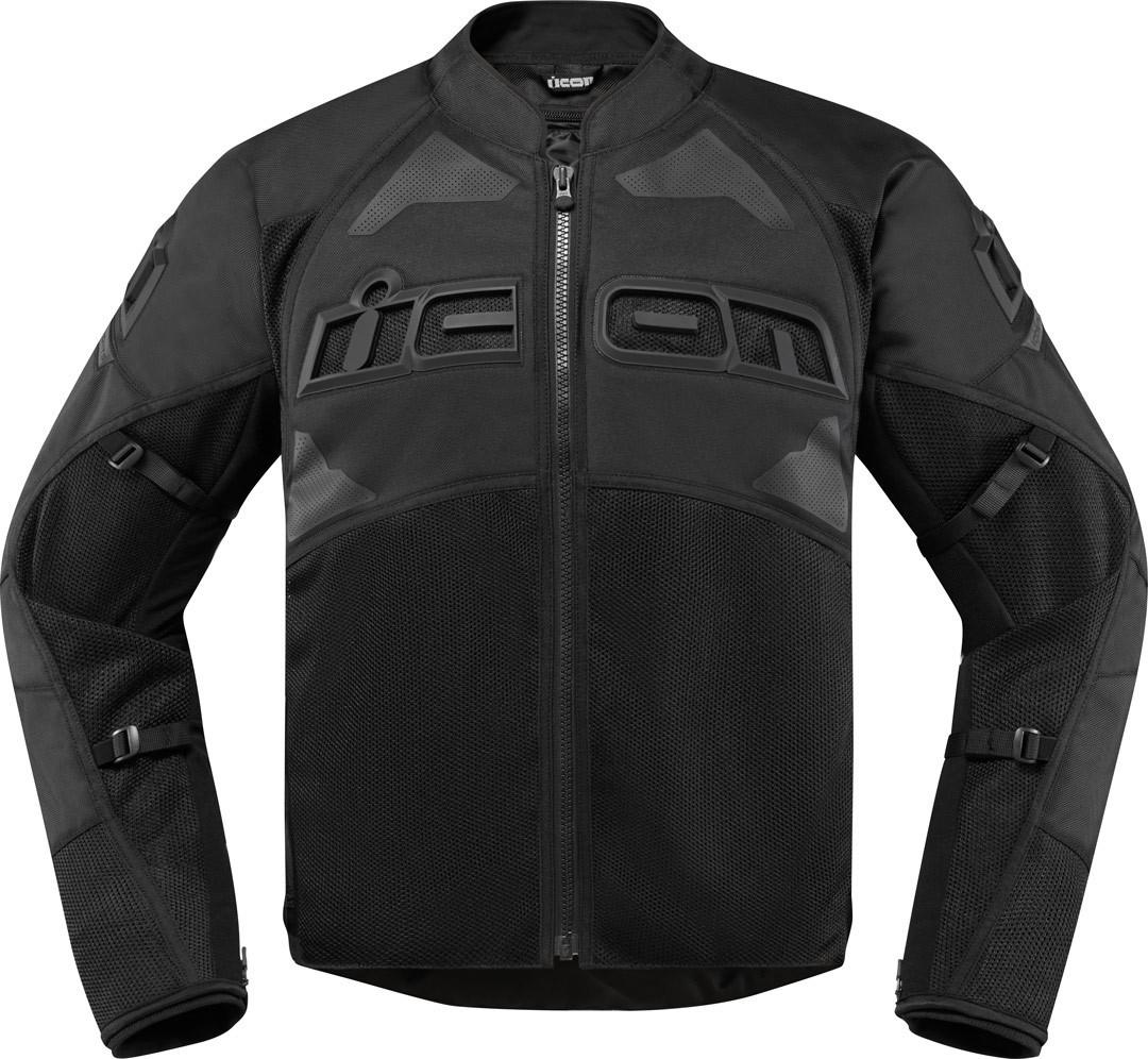 Icon Contra2 Motorrad Textiljacke, schwarz, Größe 4XL, schwarz, Größe 4XL