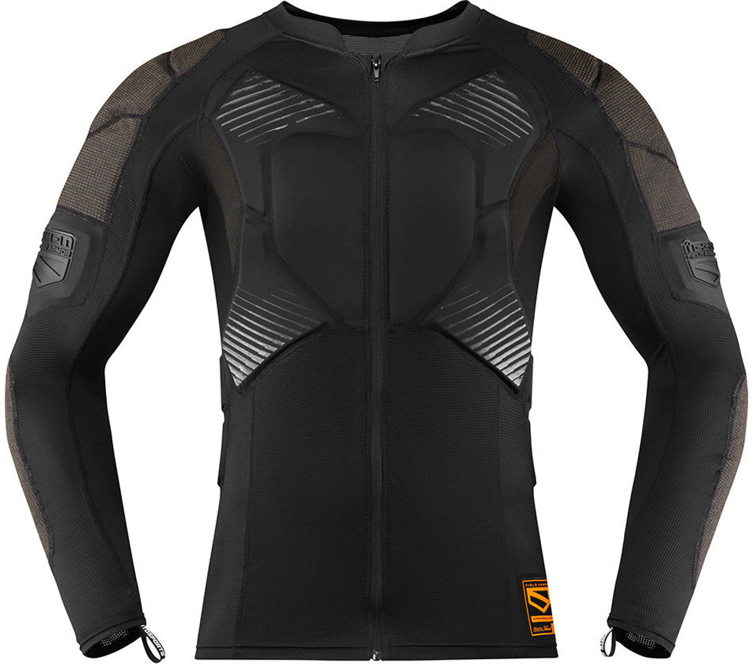 Icon Field Armor Compression Protektorenshirt, schwarz, Größe 2XL, schwarz, Größe 2XL