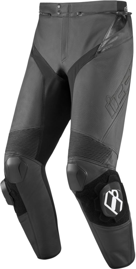 Icon Hypersport2 Prime Motorrad Lederhose, schwarz, Größe 60, schwarz, Größe 60
