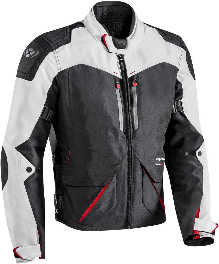 Ixon Arthus wasserdichte Motorrad Textiljacke, schwarz-grau, Größe 2XL, schwarz-grau, Größe 2XL
