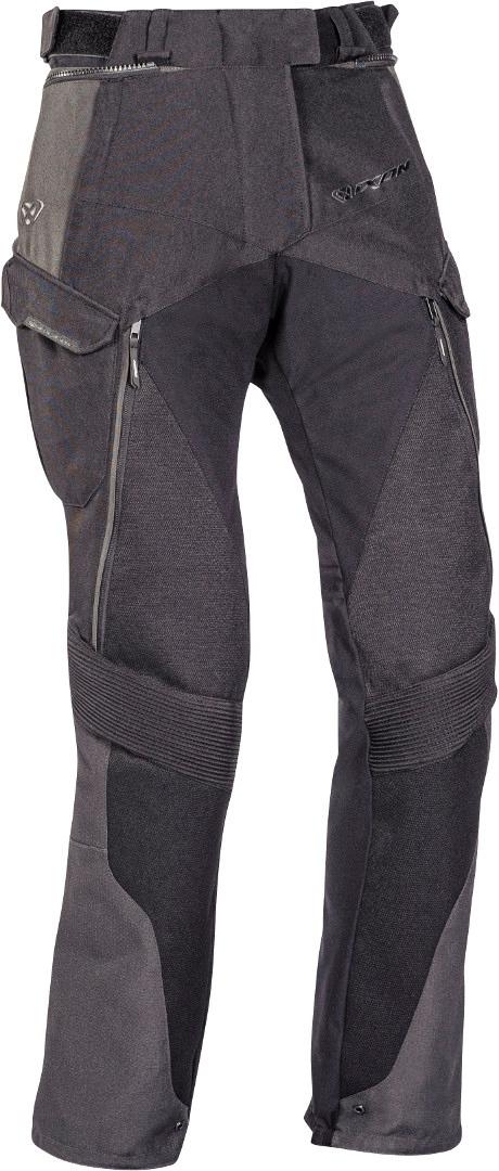 Ixon Balder Damen Motorrad Textilhose, schwarz-grau-rot, Größe XS, schwarz-grau-rot, Größe XS