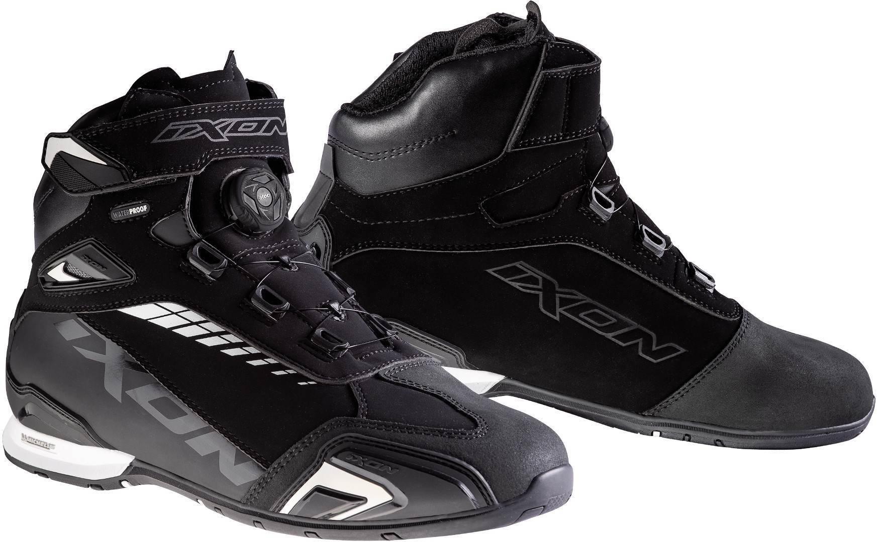 Ixon Bull WP Motorradschuhe, schwarz-weiss, Größe 43, schwarz-weiss, Größe 43
