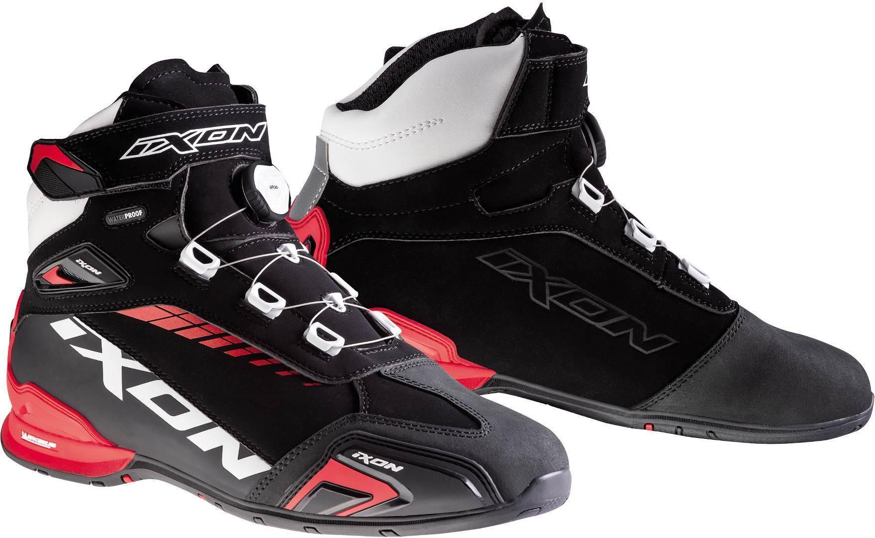 Ixon Bull WP Motorradschuhe, schwarz-weiss-rot, Größe 46, schwarz-weiss-rot, Größe 46