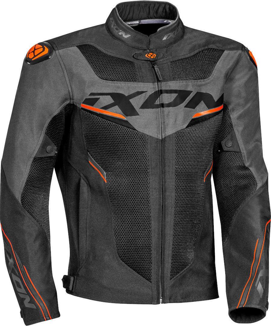 Ixon Draco Motorrad Textiljacke, schwarz-grau-orange, Größe 3XL, schwarz-grau-orange, Größe 3XL