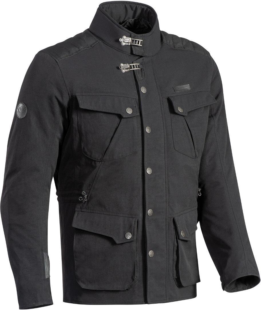 Ixon Exhaust Motorrad Textiljacke, schwarz, Größe XL, schwarz, Größe XL