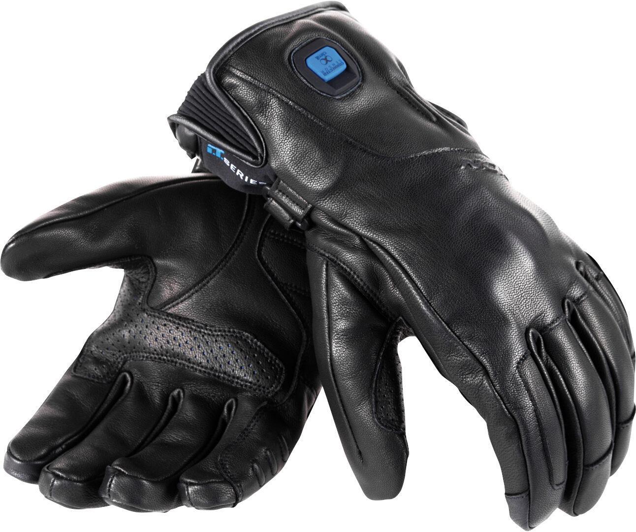 Ixon IT Fogo Beheizbare Motorradhandschuhe, schwarz, Größe L, schwarz, Größe L