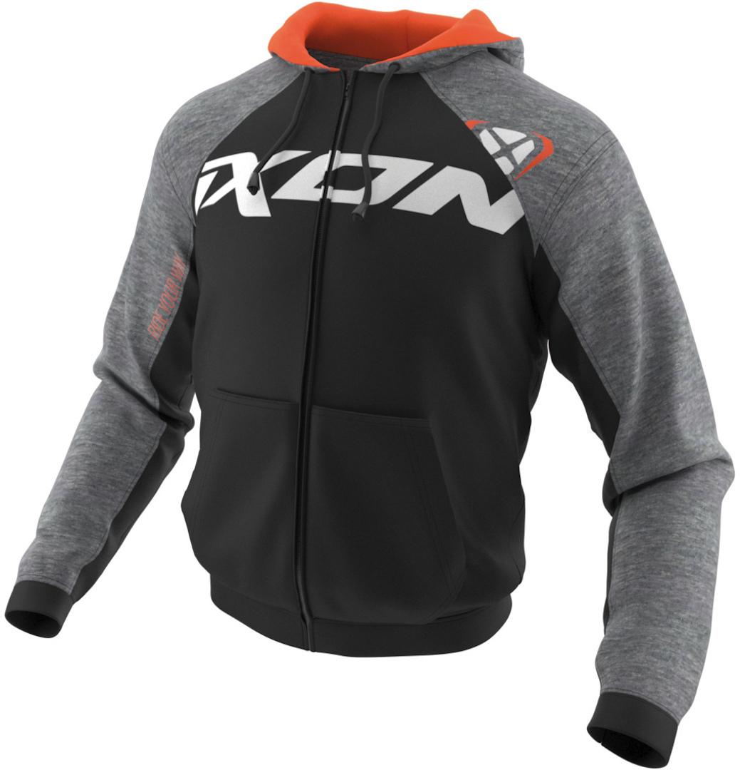 Ixon Lodge Zip Hoodie, schwarz-grau, Größe 2XL, schwarz-grau, Größe 2XL