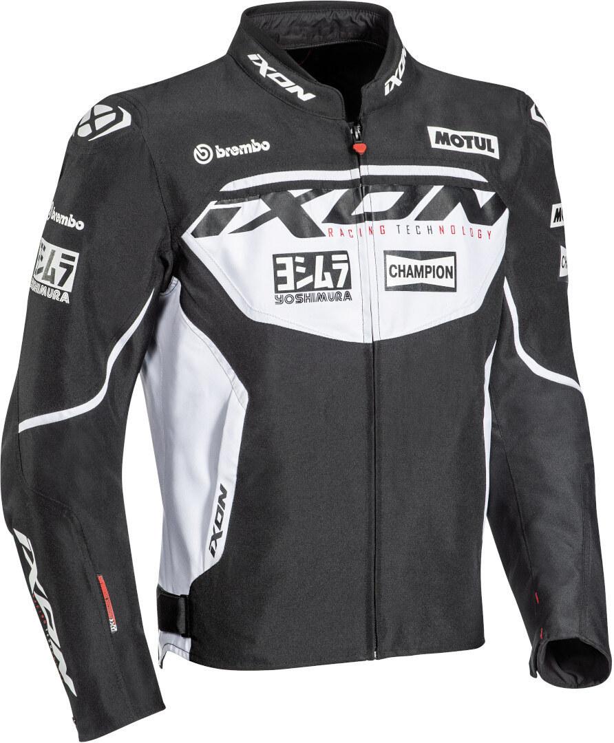 Ixon Matrix Evo Motorrad Textiljacke, schwarz-weiss, Größe 4XL, schwarz-weiss, Größe 4XL
