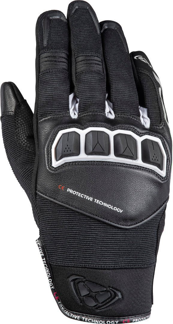 Ixon RS Run Motorradhandschuhe, schwarz-weiss, Größe XL, schwarz-weiss, Größe XL