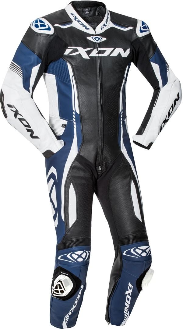 Ixon Vortex 2 1-Teiler Motorrad Lederkombi, schwarz-weiss-blau, Größe M, schwarz-weiss-blau, Größe M
