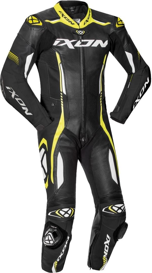 Ixon Vortex 2 1-Teiler Motorrad Lederkombi, schwarz-weiss-gelb, Größe XL, schwarz-weiss-gelb, Größe XL