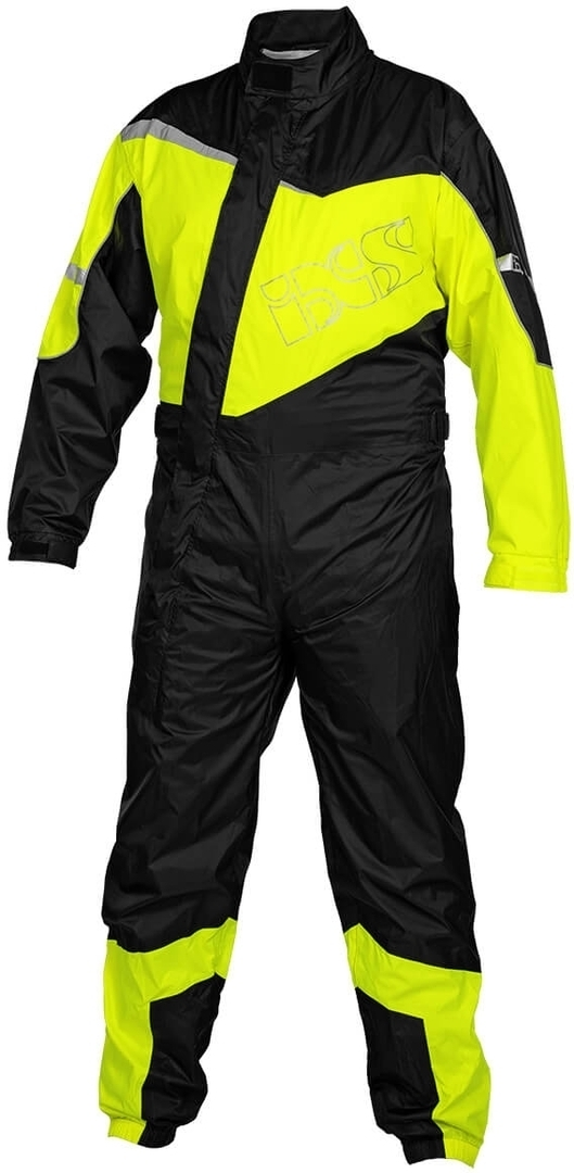 IXS 1.0 1-Teiler Motorrad Regenkombi, schwarz-gelb, Größe 5XL, schwarz-gelb, Größe 5XL