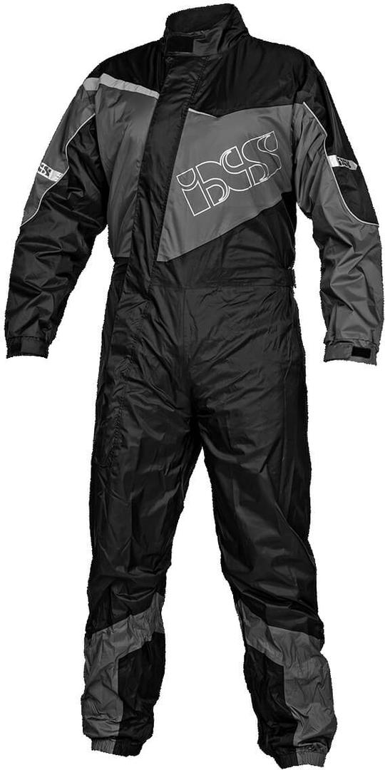 IXS 1.0 1-Teiler Motorrad Regenkombi, schwarz-grau, Größe 5XL, schwarz-grau, Größe 5XL