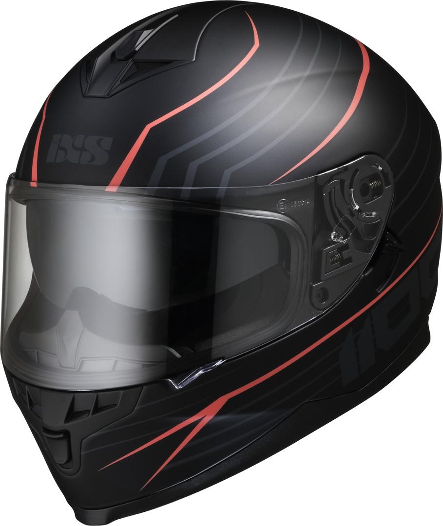 IXS 1100 2.1 Helm, schwarz-rot, Größe S, schwarz-rot, Größe S