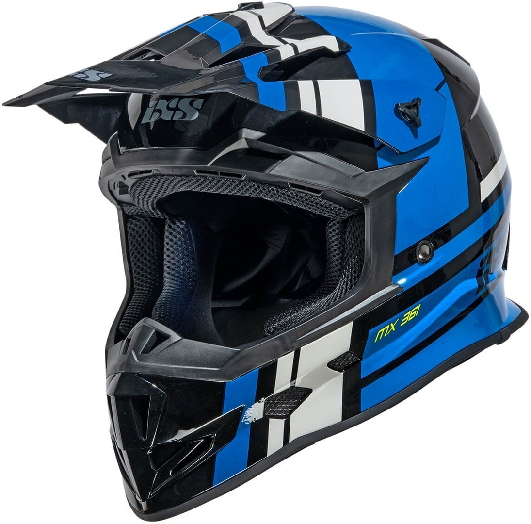 IXS 361 2.3 Motocross Helm, schwarz-blau, Größe XS, schwarz-blau, Größe XS