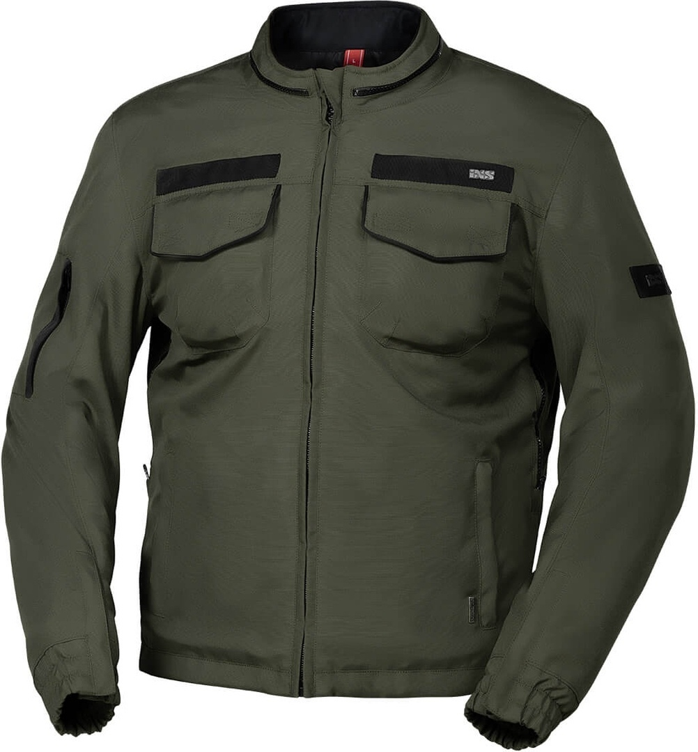 IXS Classic Baldwin-ST wasserdichte Motorrad Textiljacke, grün, Größe S, grün, Größe S