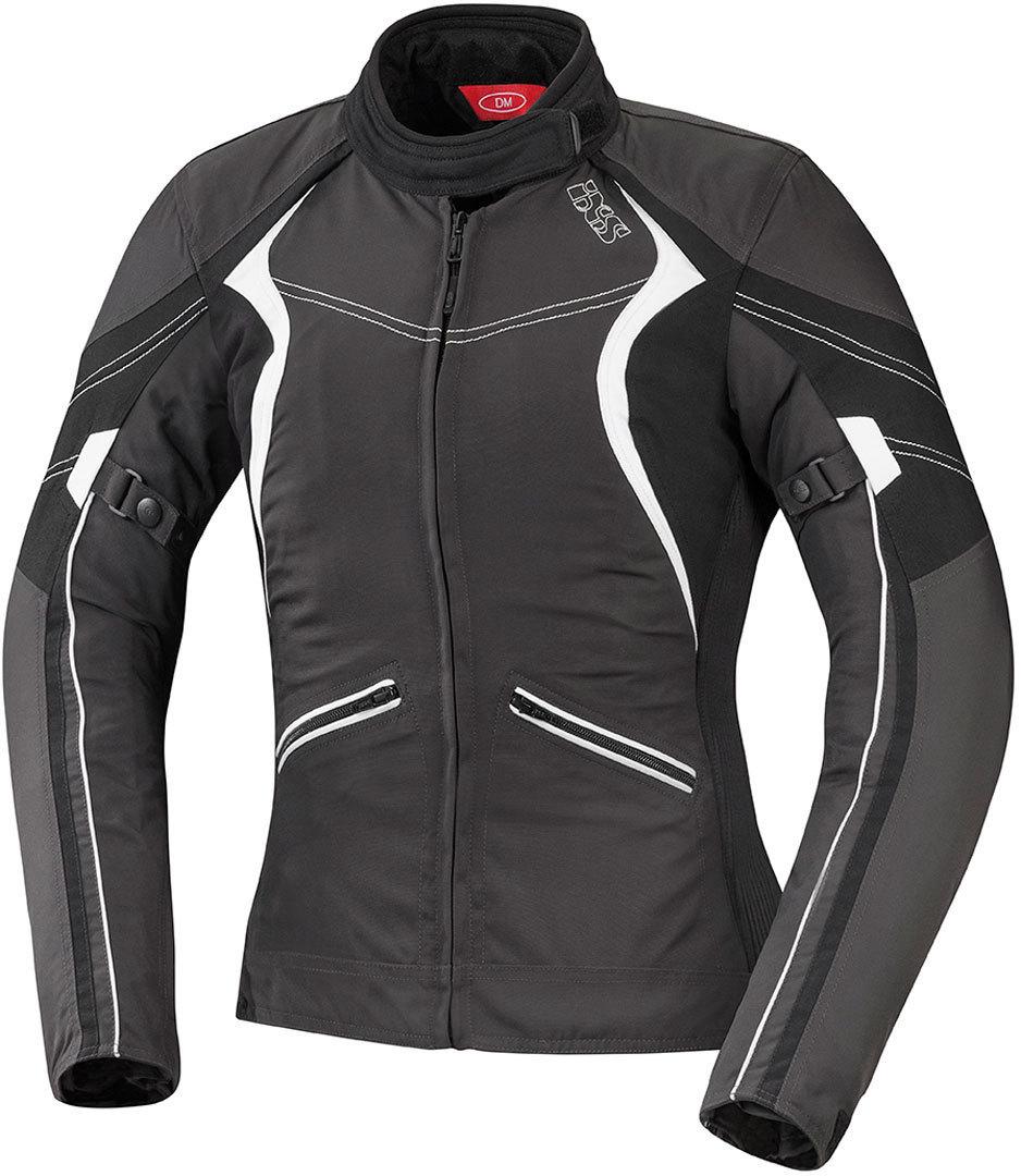 IXS Eileen Damen Textiljacke, schwarz-weiss, Größe 3XL, schwarz-weiss, Größe 3XL