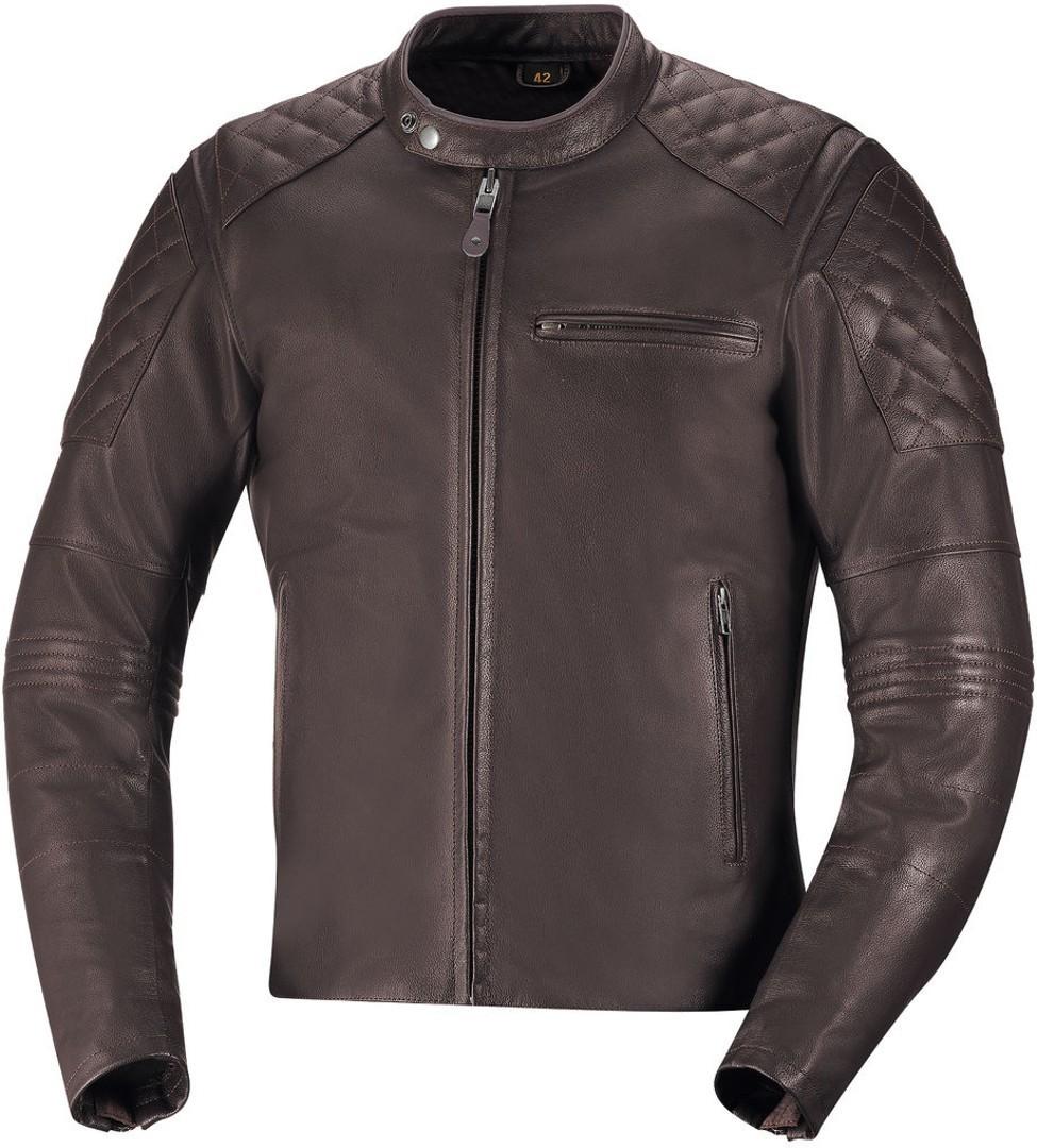 IXS Eliott Motorrad Lederjacke, braun, Größe 52, braun, Größe 52