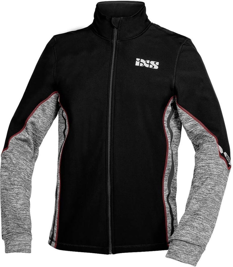IXS Ice 1.0 Funktionsjacke, schwarz-grau-rot, Größe L, schwarz-grau-rot, Größe L