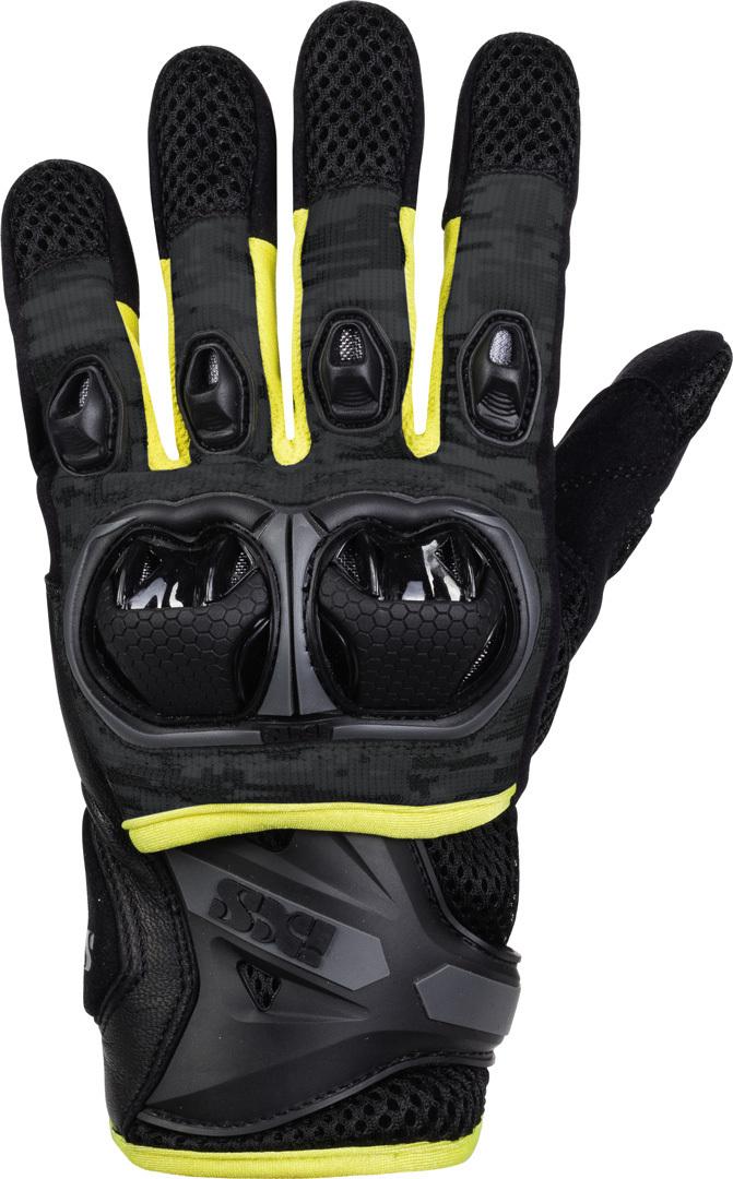 IXS LT Montevideo Air S Motocross Handschuhe, schwarz-grau-gelb, Größe XL, schwarz-grau-gelb, Größe XL