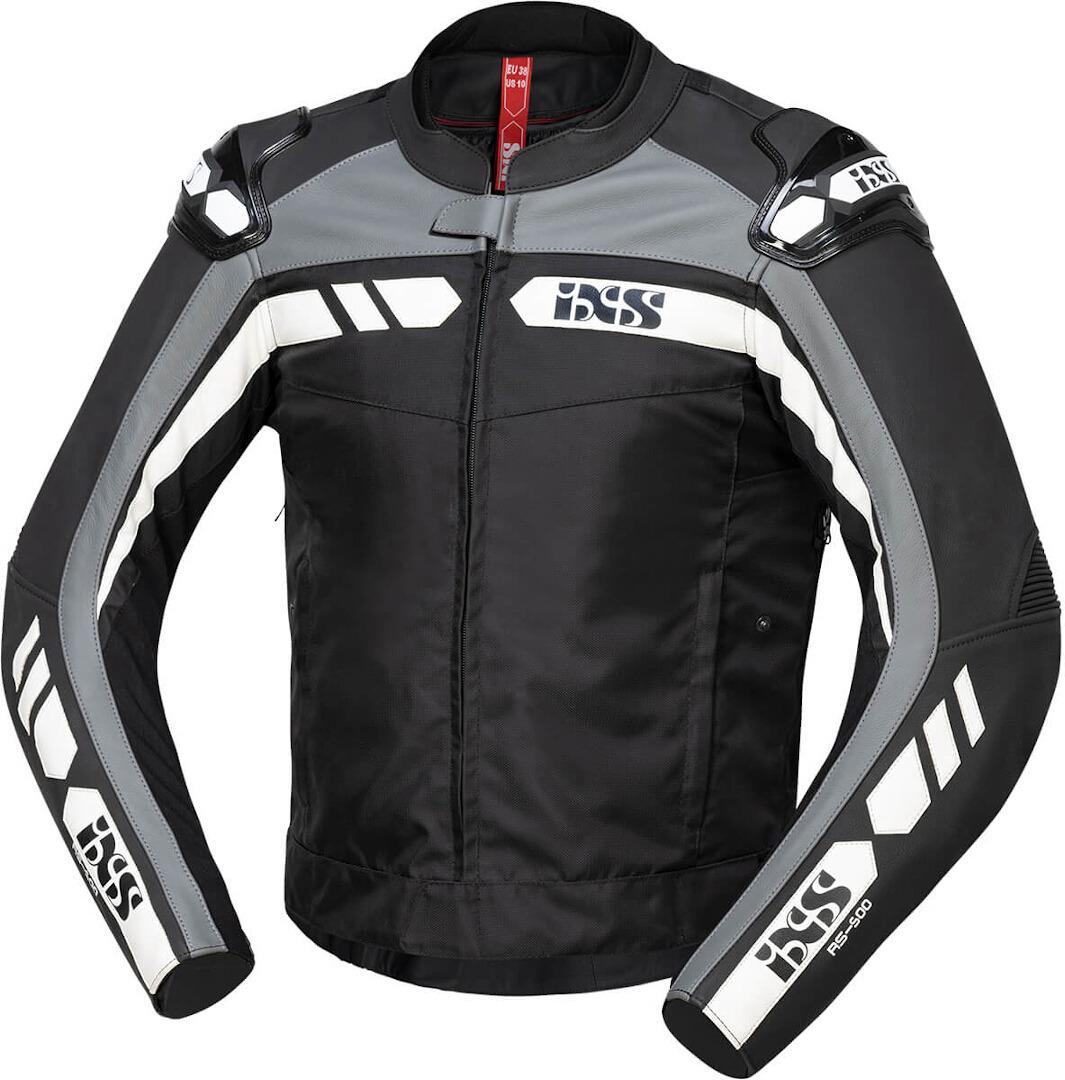 IXS RS-500 1.0 Motorrad Textiljacke, schwarz-grau-weiss, Größe 54, schwarz-grau-weiss, Größe 54