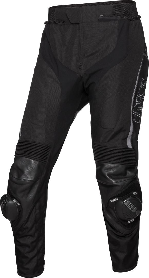 IXS Sport LT RS-1000 Motorrad Leder/Textilhose, schwarz-grau, Größe 50, schwarz-grau, Größe 50
