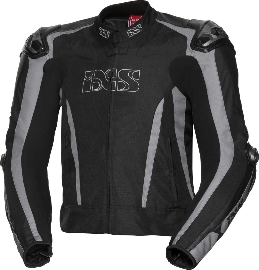IXS Sport LT RS-1000 Motorrad Textiljacke, schwarz-grau, Größe 44, schwarz-grau, Größe 44