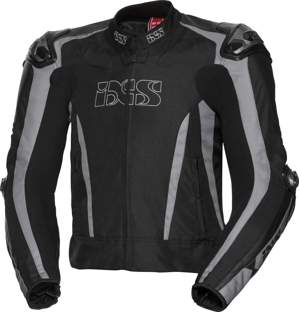 IXS Sport LT RS-1000 Motorrad Textiljacke, schwarz-grau, Größe 52, schwarz-grau, Größe 52