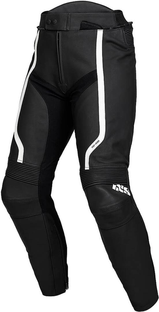 IXS Sport RS-600 1.0 Motorrad Lederhose, schwarz-weiss, Größe 50, schwarz-weiss, Größe 50