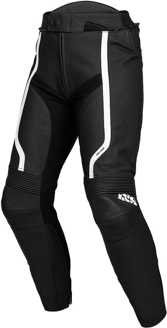 IXS Sport RS-600 1.0 Motorrad Lederhose, schwarz-weiss, Größe 62, schwarz-weiss, Größe 62
