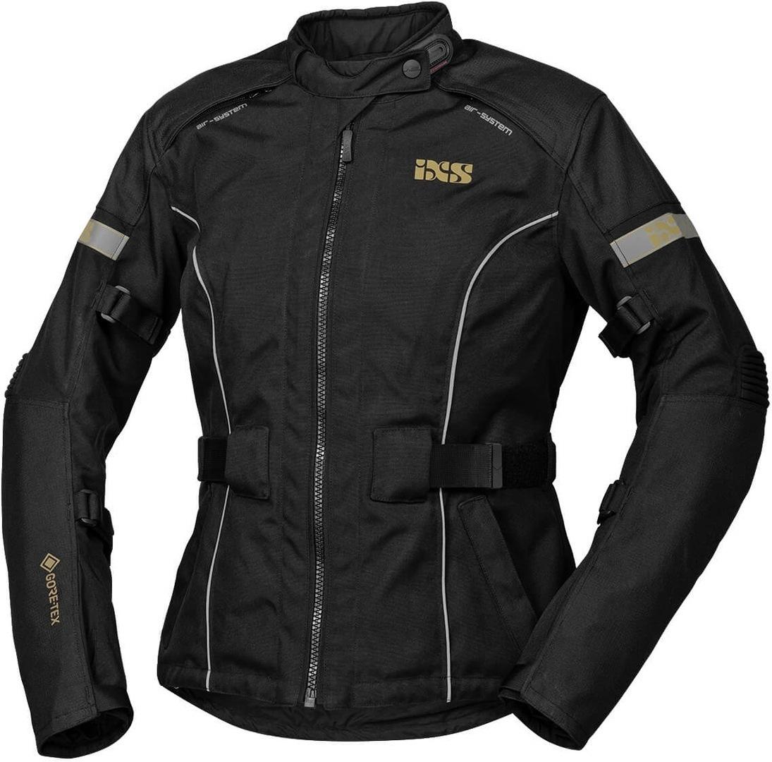 IXS Tour Classic Gore-Tex Damen Motorrad Textiljacke, schwarz, Größe 2XL, schwarz, Größe 2XL