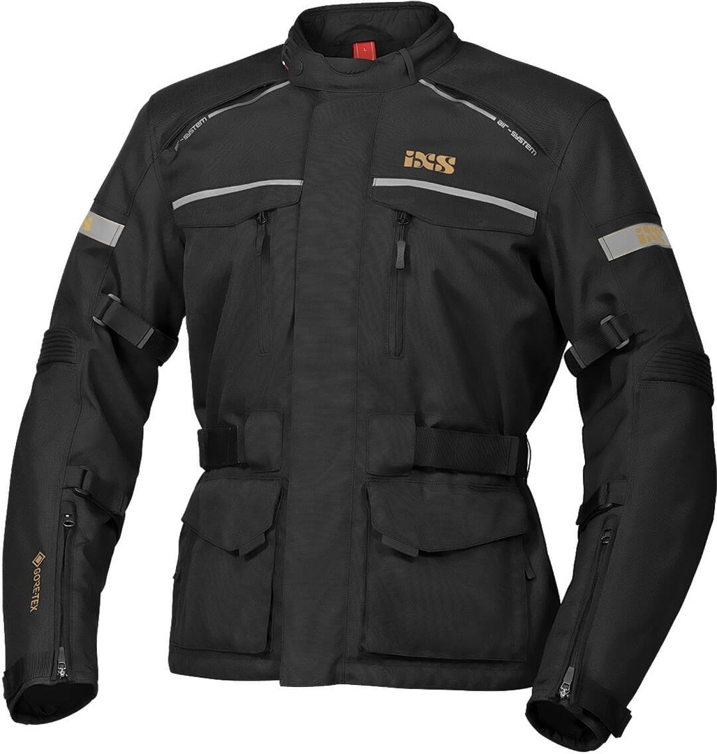 IXS Tour Classic Gore-Tex Motorrad Textiljacke, schwarz, Größe 4XL, schwarz, Größe 4XL