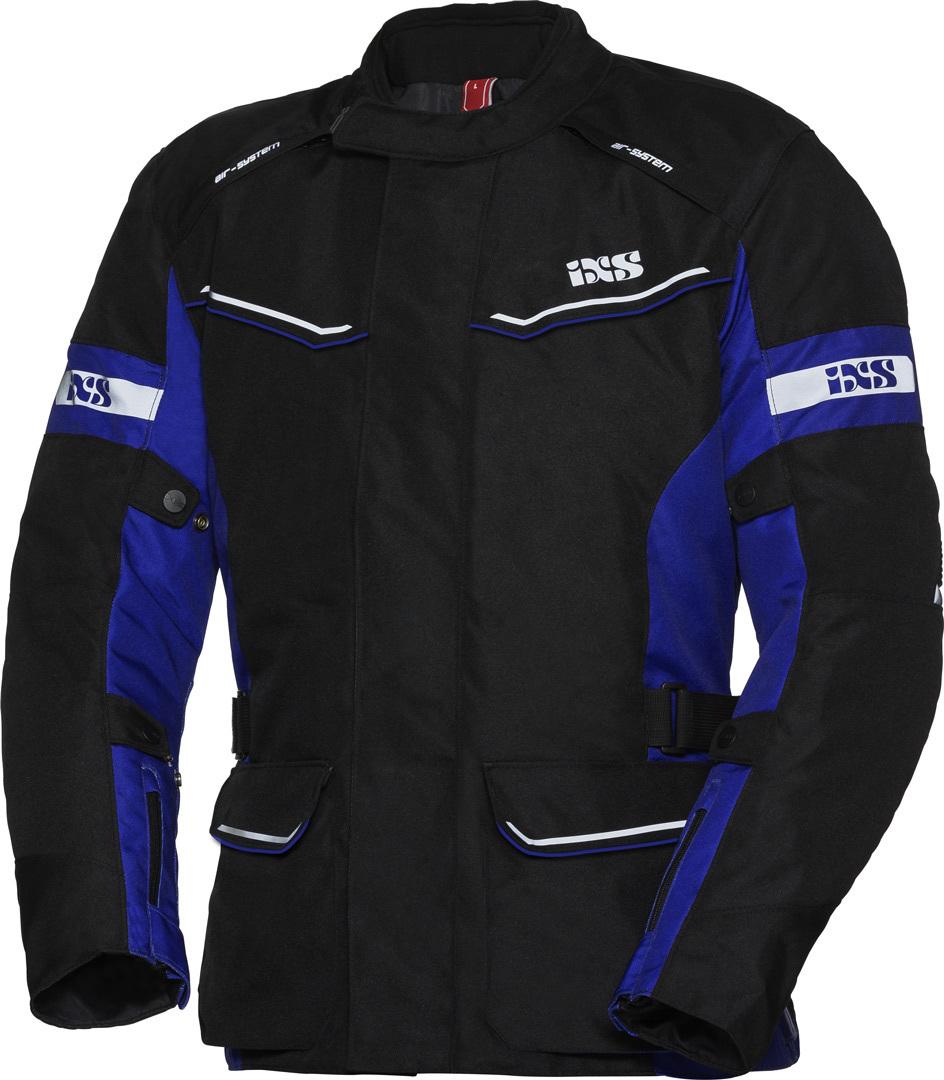 IXS Tour Evans-ST Damen Motorrad Textiljacke, schwarz-blau, Größe XL, schwarz-blau, Größe XL