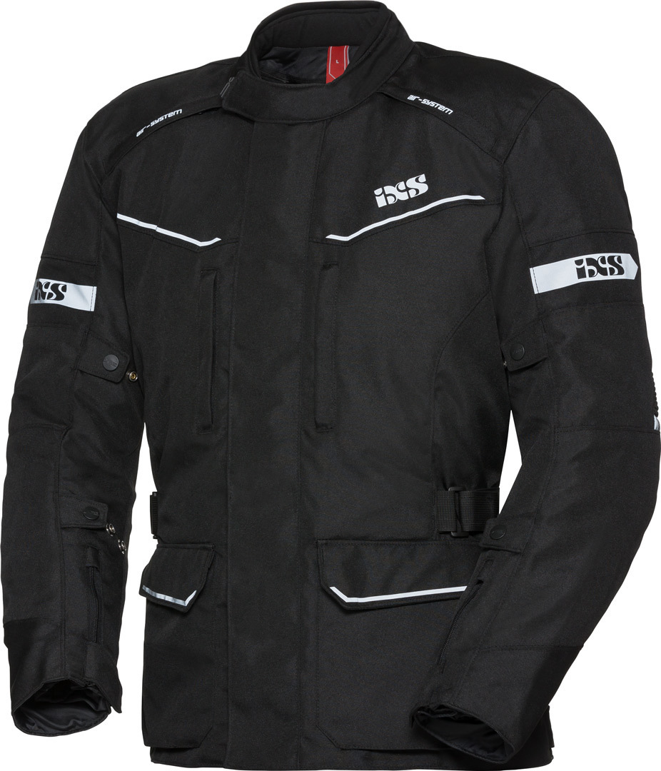 IXS Tour Evans-ST Motorrad Textiljacke, schwarz, Größe S, schwarz, Größe S