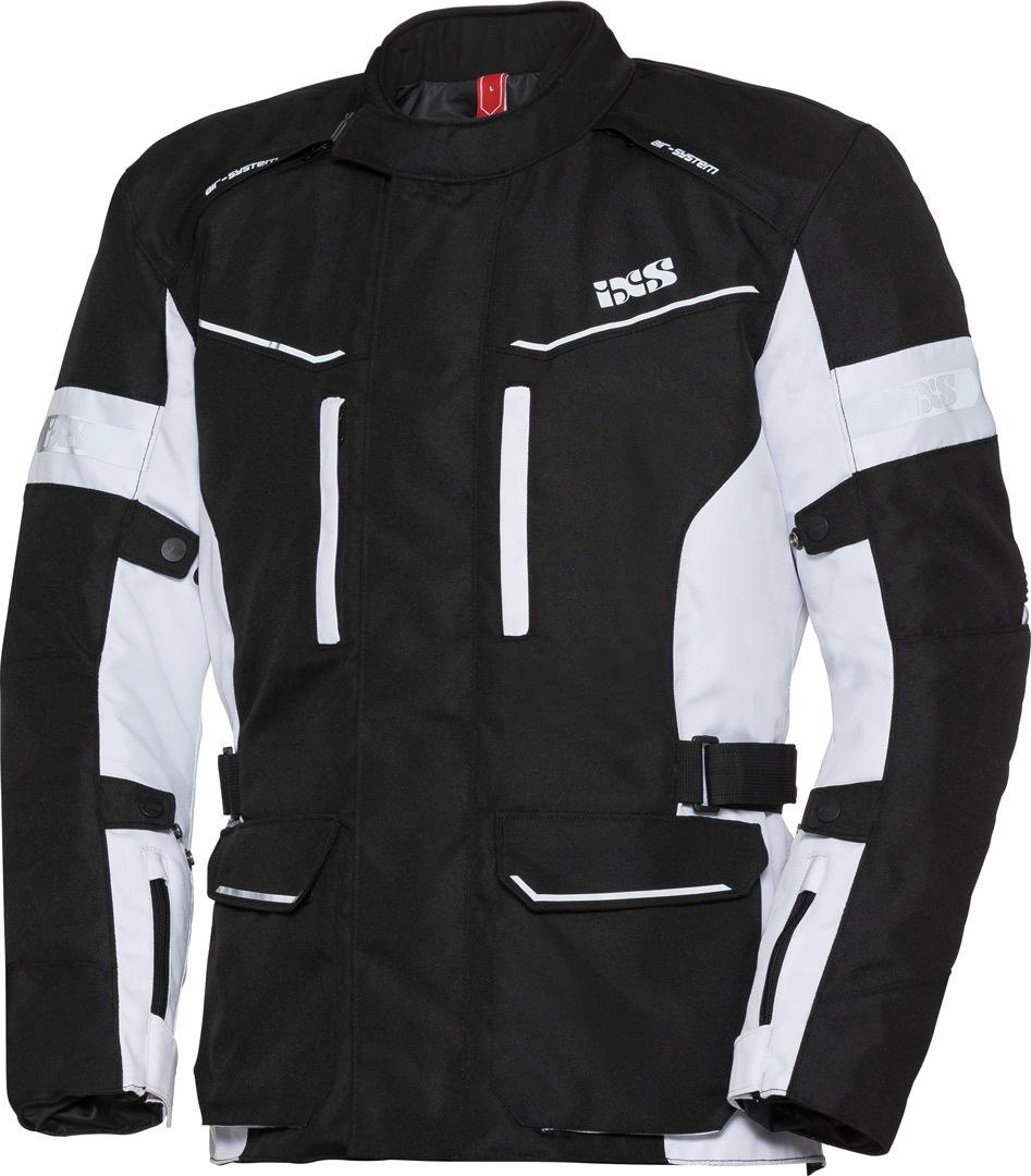 IXS Tour Evans-ST Motorrad Textiljacke, schwarz-weiss, Größe L, schwarz-weiss, Größe L