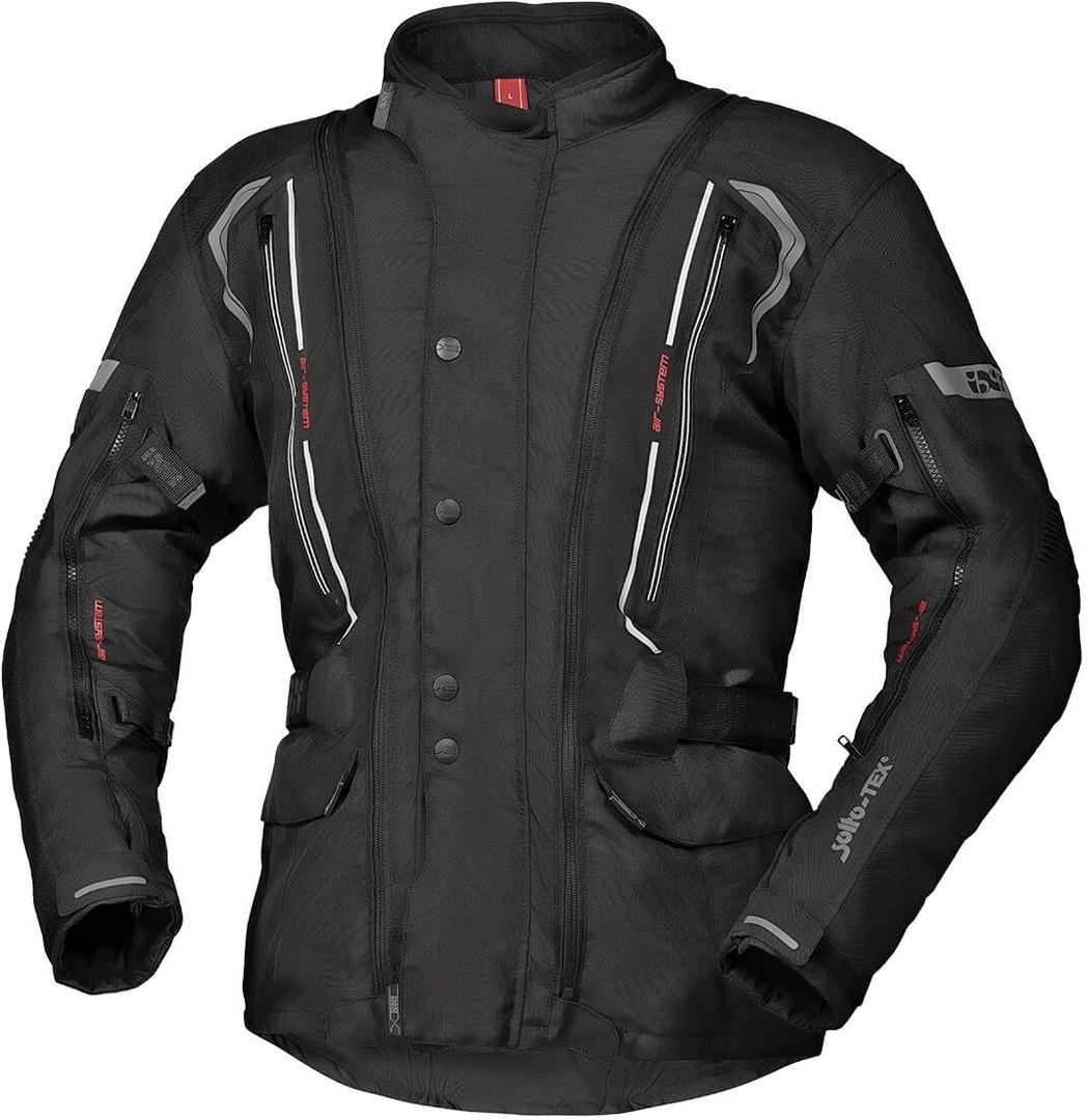 IXS Tour Flex-ST Motorrad Textiljacke, schwarz, Größe L, schwarz, Größe L