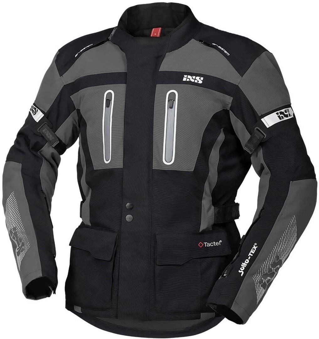IXS Tour Pacora-ST Motorrad Textiljacke, schwarz-grau, Größe M, schwarz-grau, Größe M