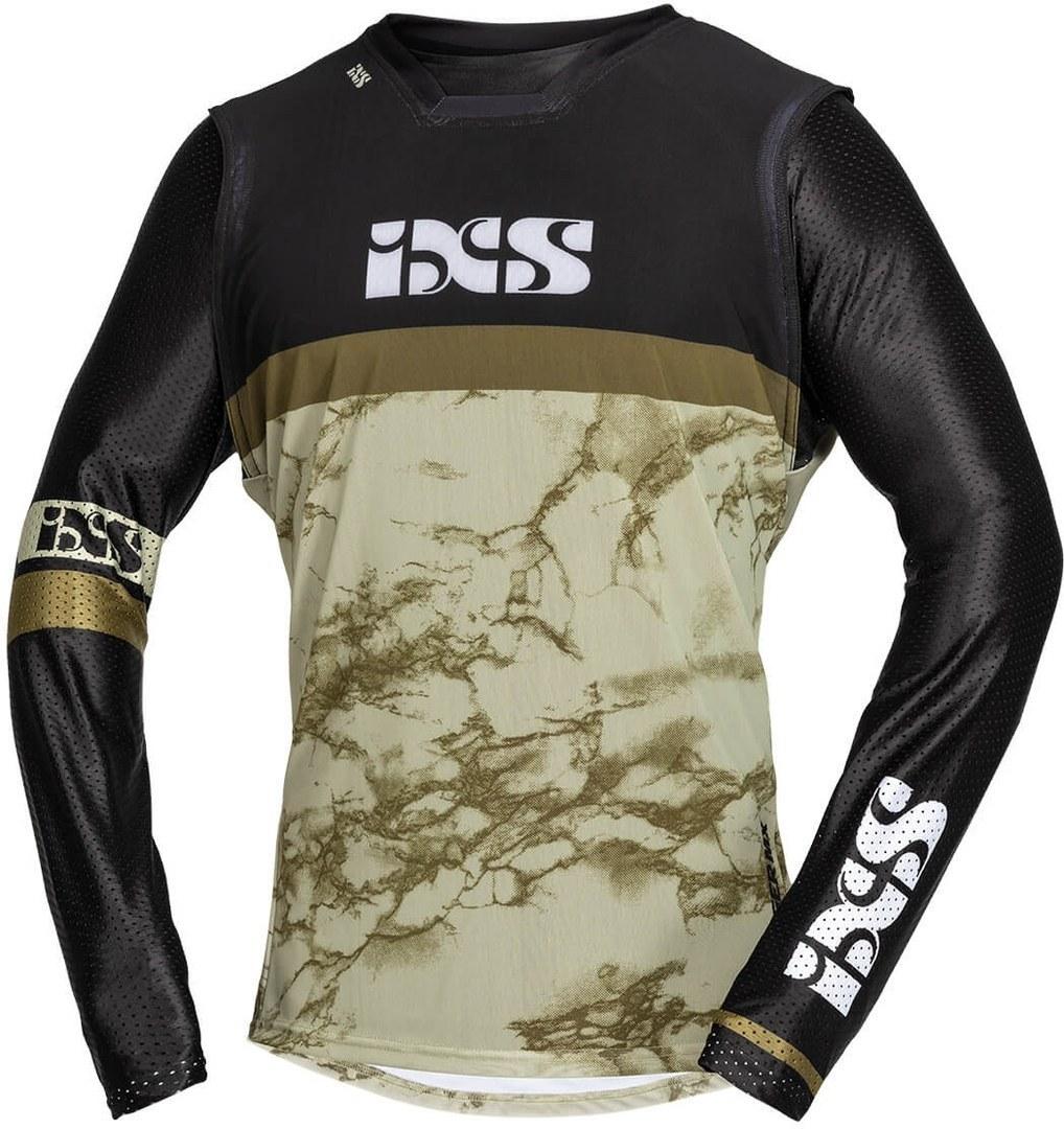 IXS Trigger Motocross Jersey, schwarz-beige, Größe L, schwarz-beige, Größe L